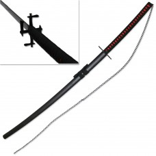 "41"" Japanese Anime Bleach Ichigo Bankai Cutting Moon Saw Sword Tensa Zangetsu with Chain"