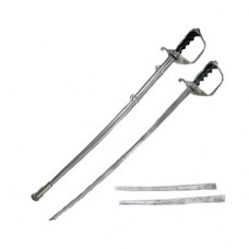 "New Full Size 36"" US Army Naval War Officer Sword Military Ceremonial Saber Chrome Replica"