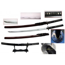 New Handmade Battle Ready Razor Sharp Japanese Samurai War Lord Toyotomi Hideyshi Wakizashi Katana Sword with Stand