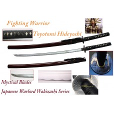 New Handmade Battle Ready Razor Sharp Japanese Samurai War Lord Toyotomi Hideyshi Wakizashi Katana Sword
